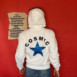 vintage 90s COSMIC hoodie sparkly star graphic